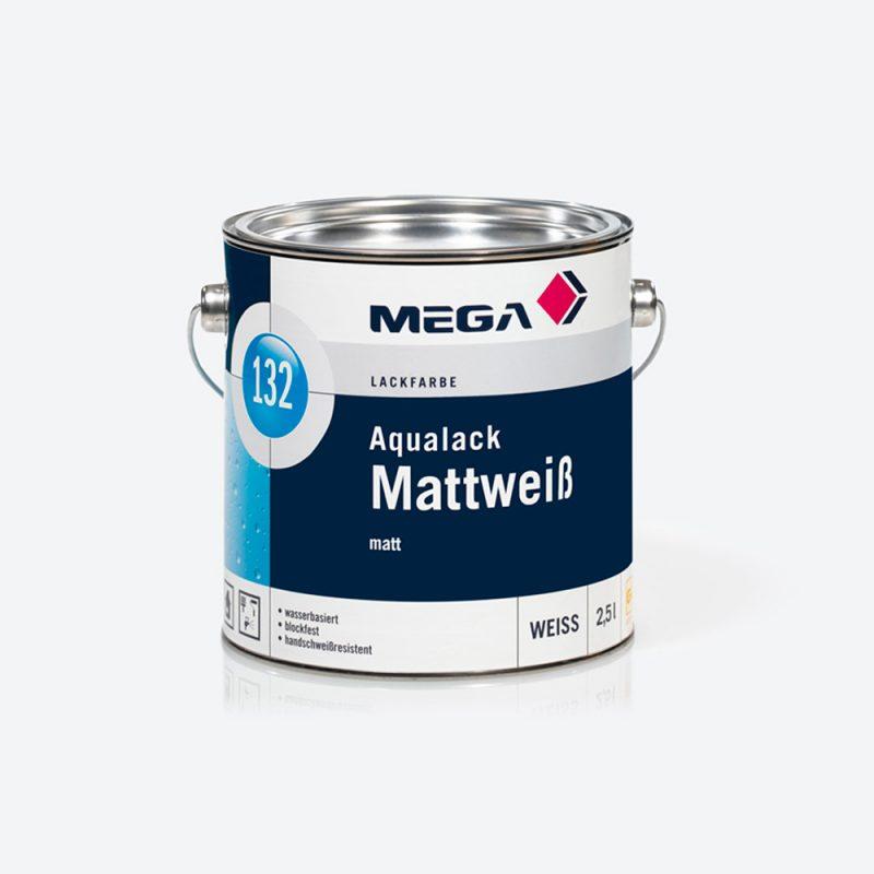 Lackfarbe Aqualack Mattweiss 132 matt Mega