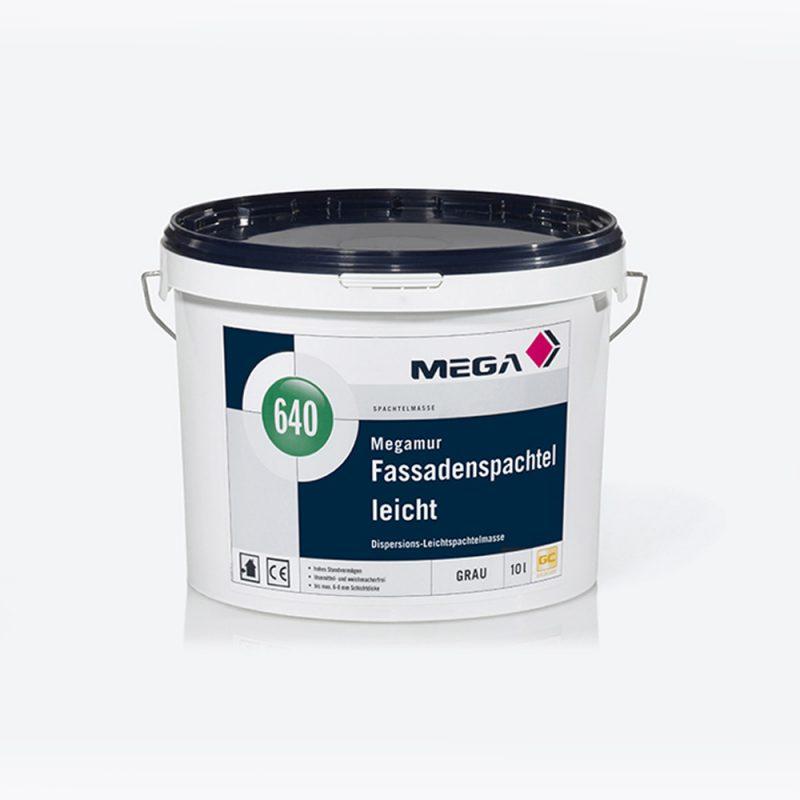 Spachtelmasse Megamur Fassadenspachtel leicht 640 Dispersions-leichtspachtelmasse Mega