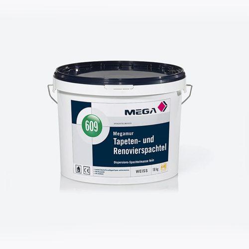 Spachtelmasse Megamur Tapeten und Renovierspachtel fein 609 Dispersions-Spachtelmasse fein Mega