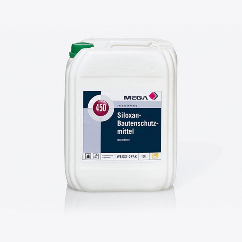 Fassadenfarbe Siloxan-Bautenschutzmittel 450 lösemittelfrei Mega