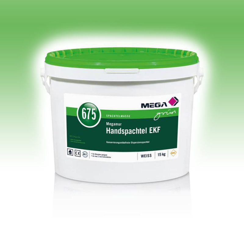 Grün Spachtelmasse Megamur Handspachtel EKF 675 Konservierungsmittelfreier Dispersionsspachtel Mega