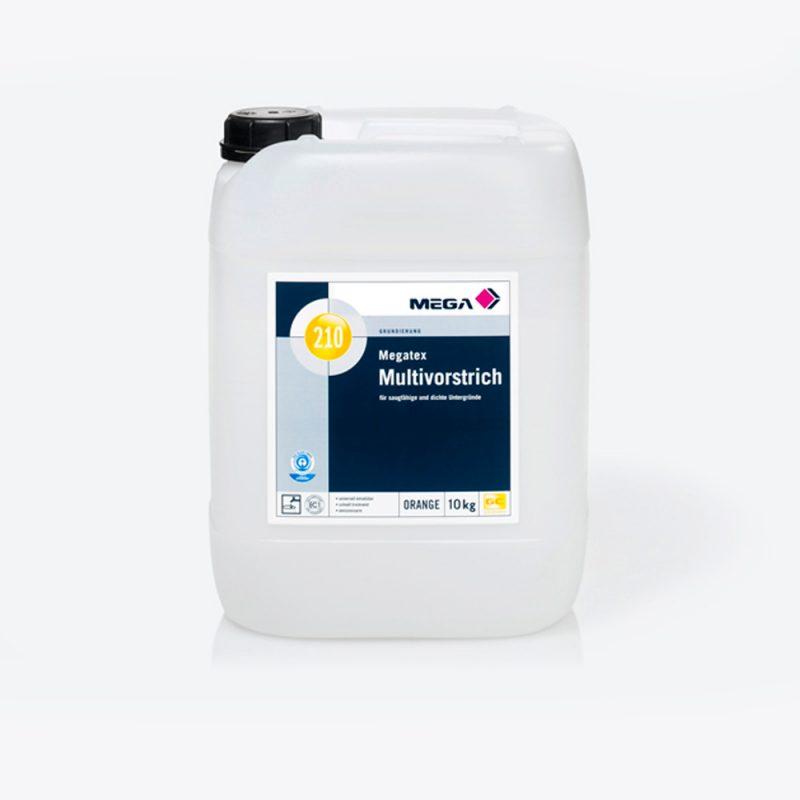 Grundierung Megatex Multivorstrich 210 für saugfähige und dichte Untergründe Mega