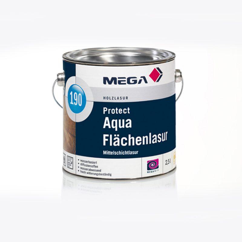 Holzlasur Protect Aqua Flächenlasur 190 mittelschichtlasur Mega