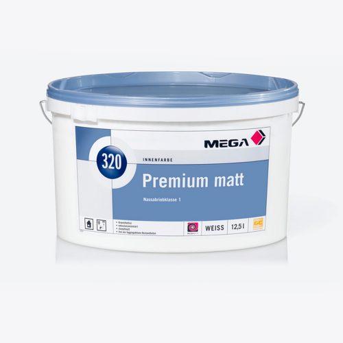 Innenfarbe Premium matt 320 Nassabriebklasse 1 Mega